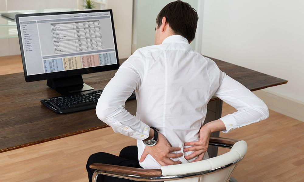 Sitting For A Long Period Can Cause Back Problems